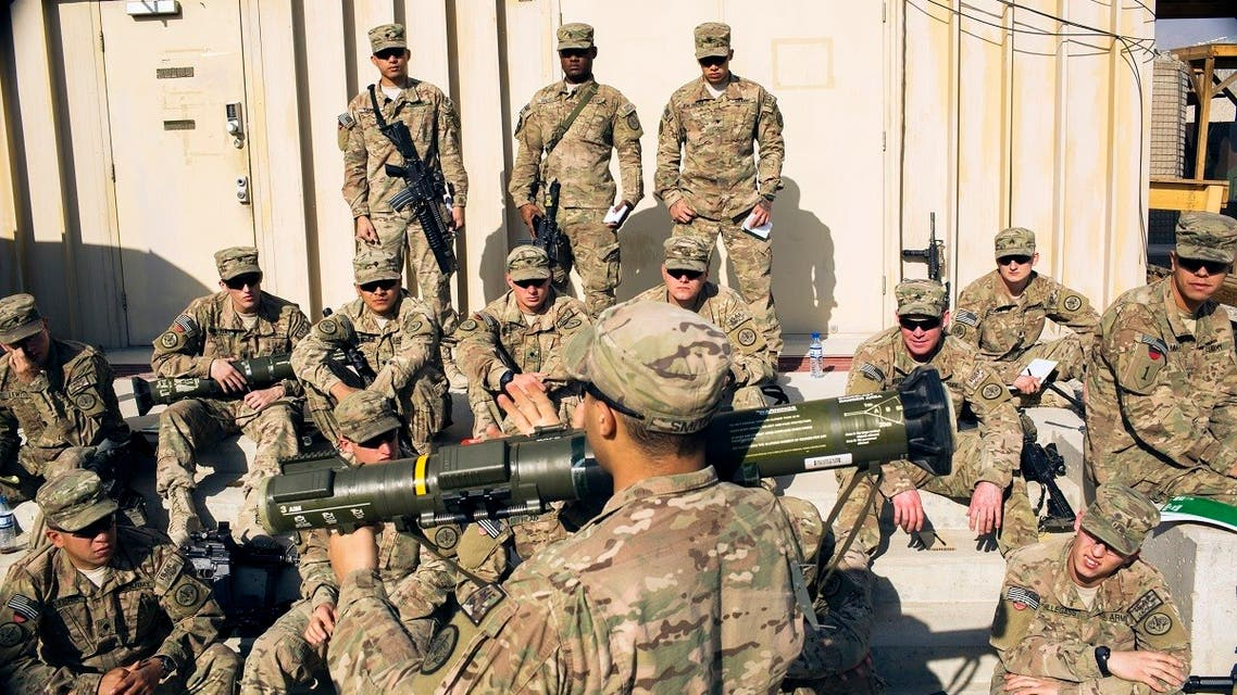US soldiers listen to a briefing on the proper use of a rocket launcher in the Laghman province of Afghanistan. (File Photo: Reuters)