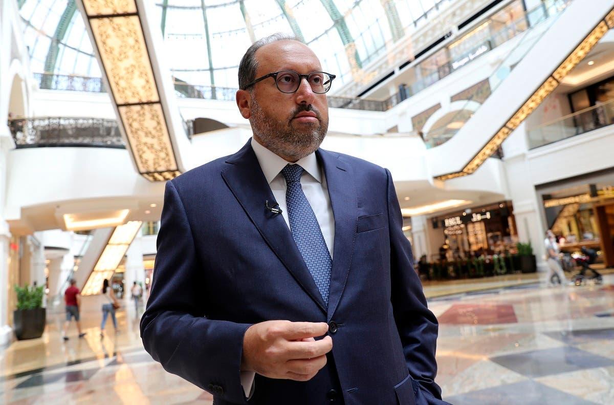 Alain Bejjani, CEO of the Majid Al Futtaim Group, talks to The Associated Press at the Mall of the Emirates in Dubai, United Arab Emirates, on April 15, 2021. (AP)