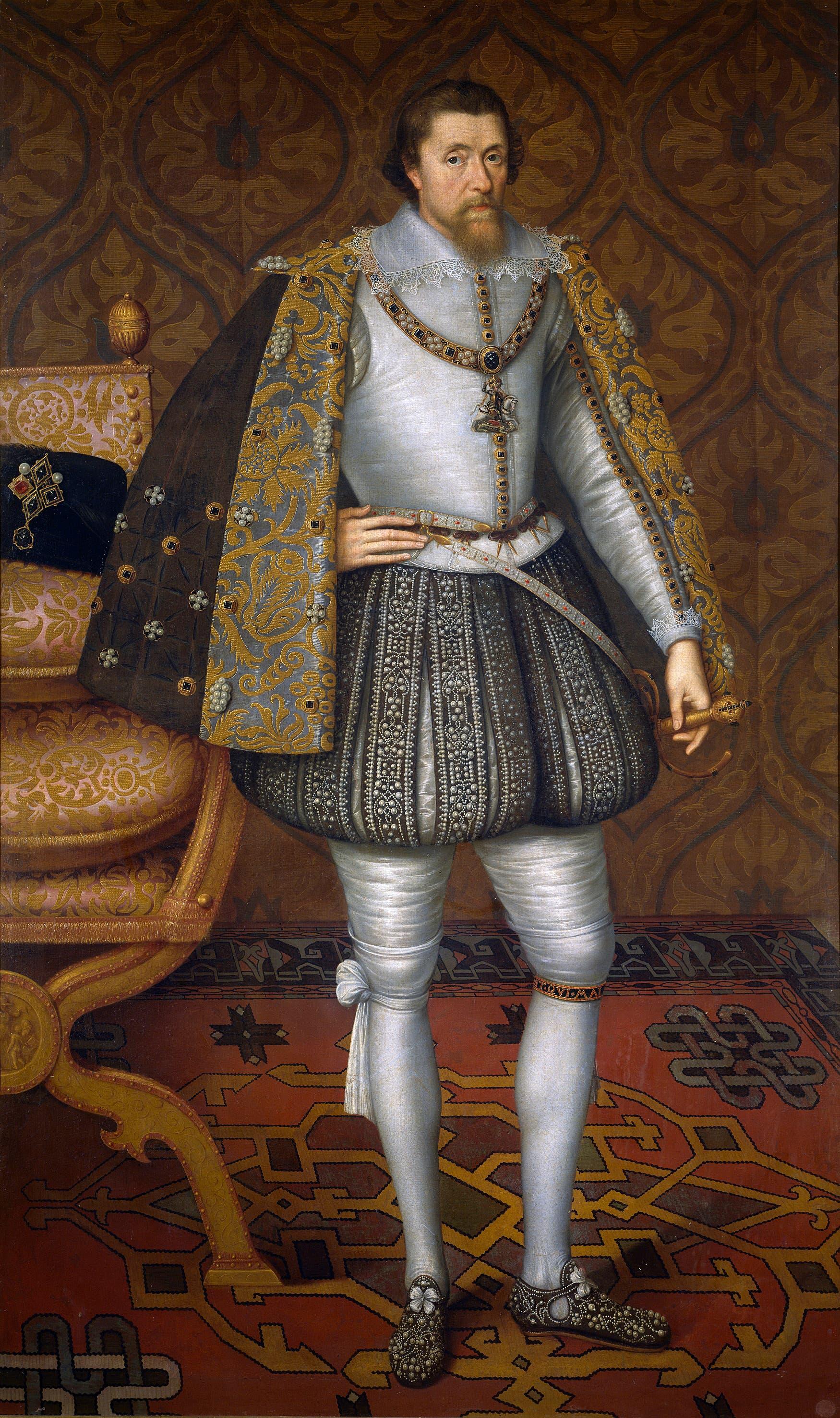 لوحة تجسد الملك جيمس السادس