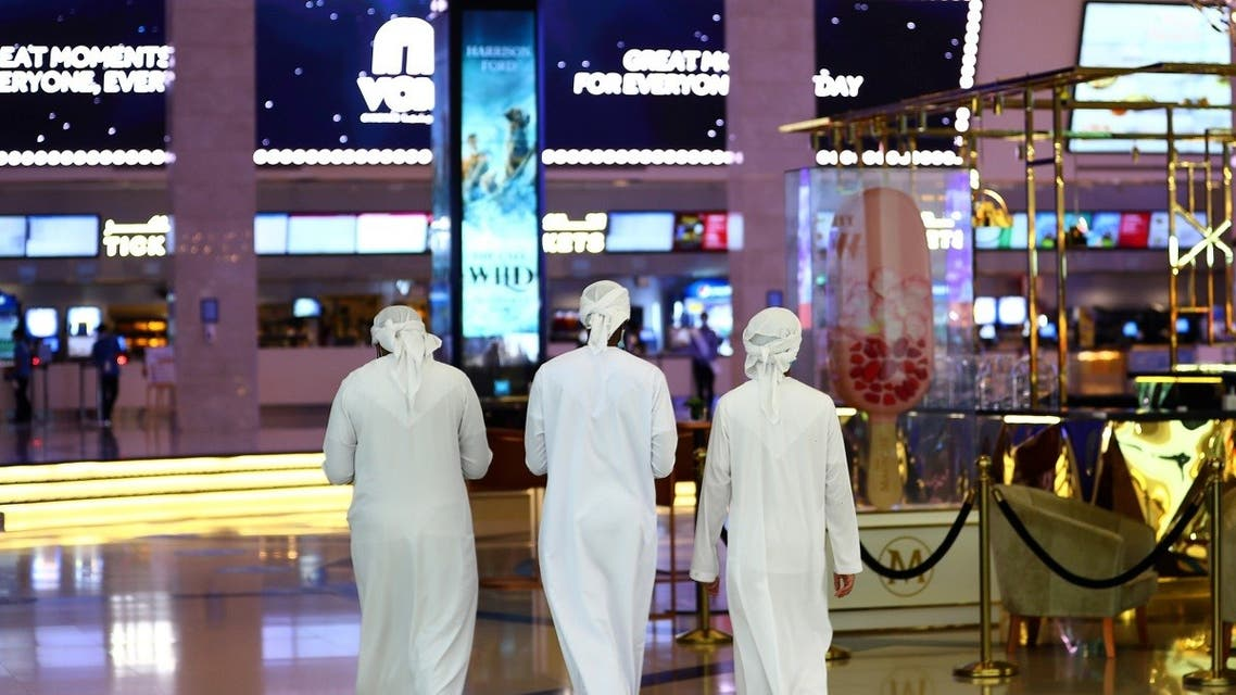People walk at Mall of the Emirates during the reopening of malls, following the outbreak of the coronavirus in Dubai, United Arab Emirates, on May 28, 2020. (Reuters)