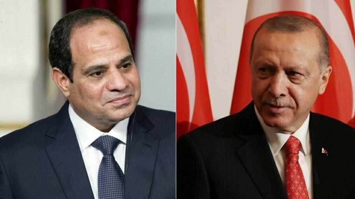Recep Tayyip Erdoğan and Abduaftah alsisi