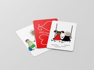 A deck of 'Pic-Tales' cards from the Smart Heart board game, developed by two Dubai-based psychologists to build children's emotional intelligence and address mental health issues. (Supplied)