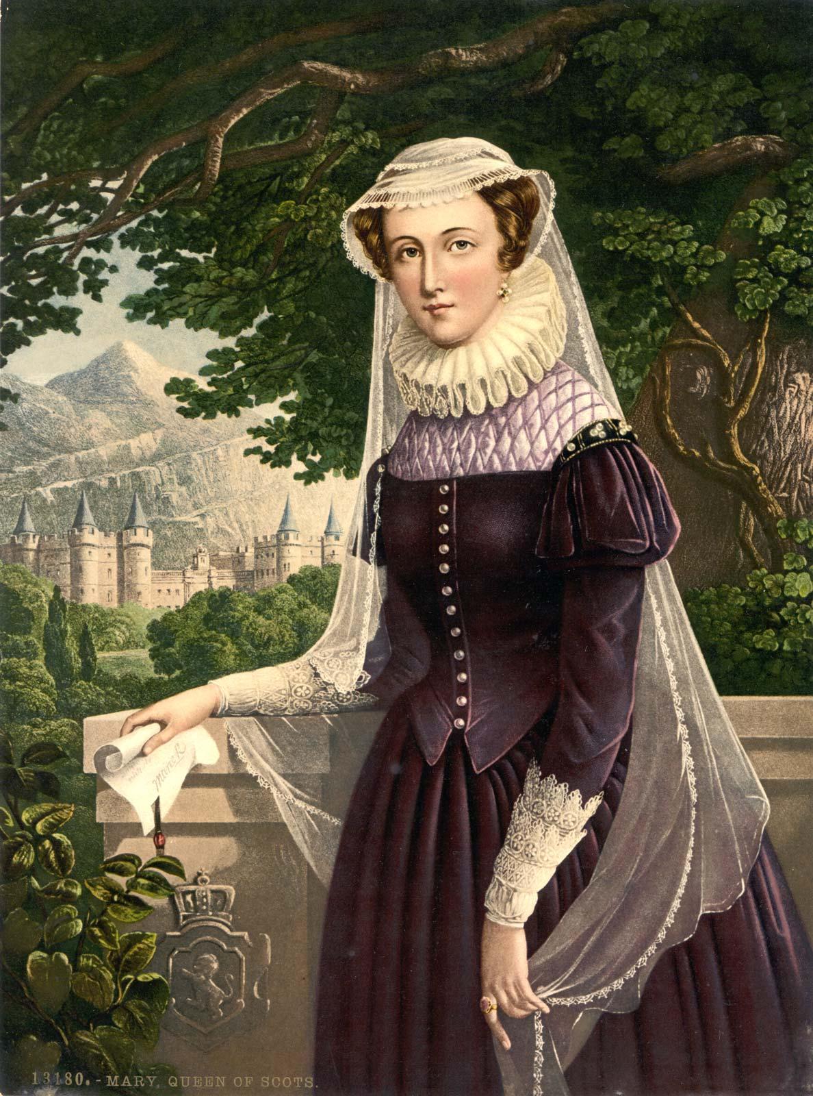 لوحة تجسد ماري ستيوارت ملكة إسكتلندا