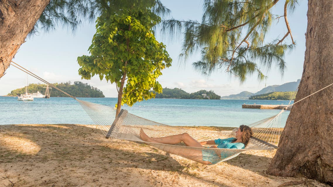 Relaxing Ste Anne in Seychelles.