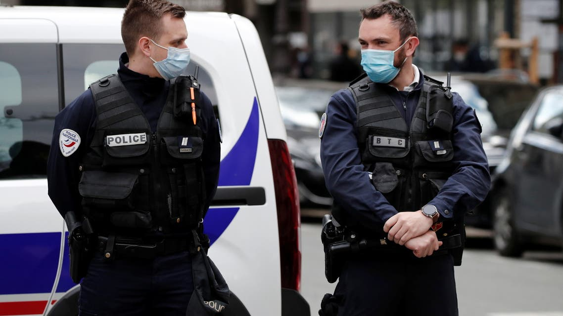 French police secure the area after one person was shot dead and one injured in front of the Henry Dunant hospital in Paris, France, April 12, 2021. (File photo: Reuters)