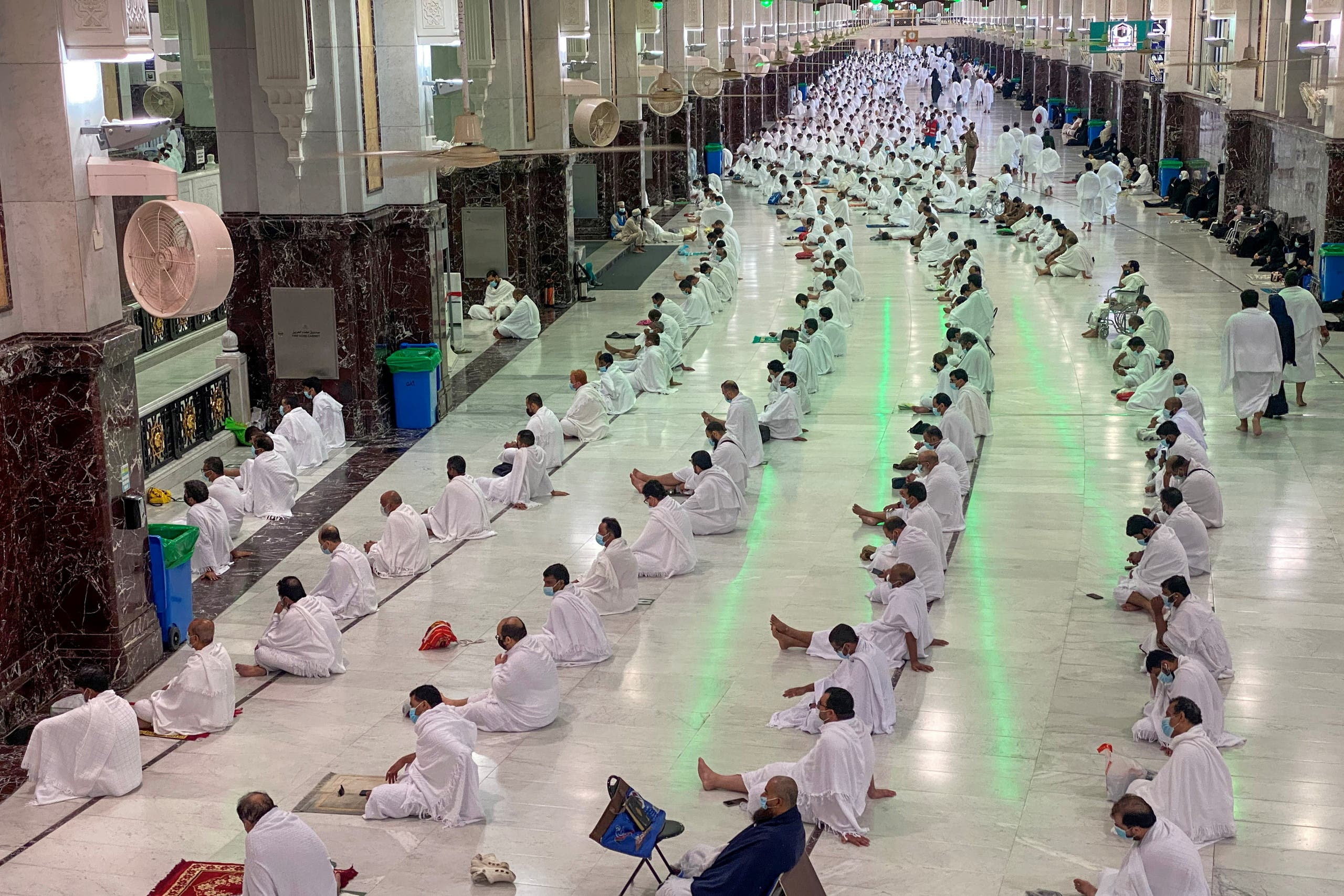 Muslims perform Friday prayers at the Grand Mosque during the holy month of Ramadan, in the holy city of Mecca, Saudi Arabia, April 16, 2021. (Reuters)