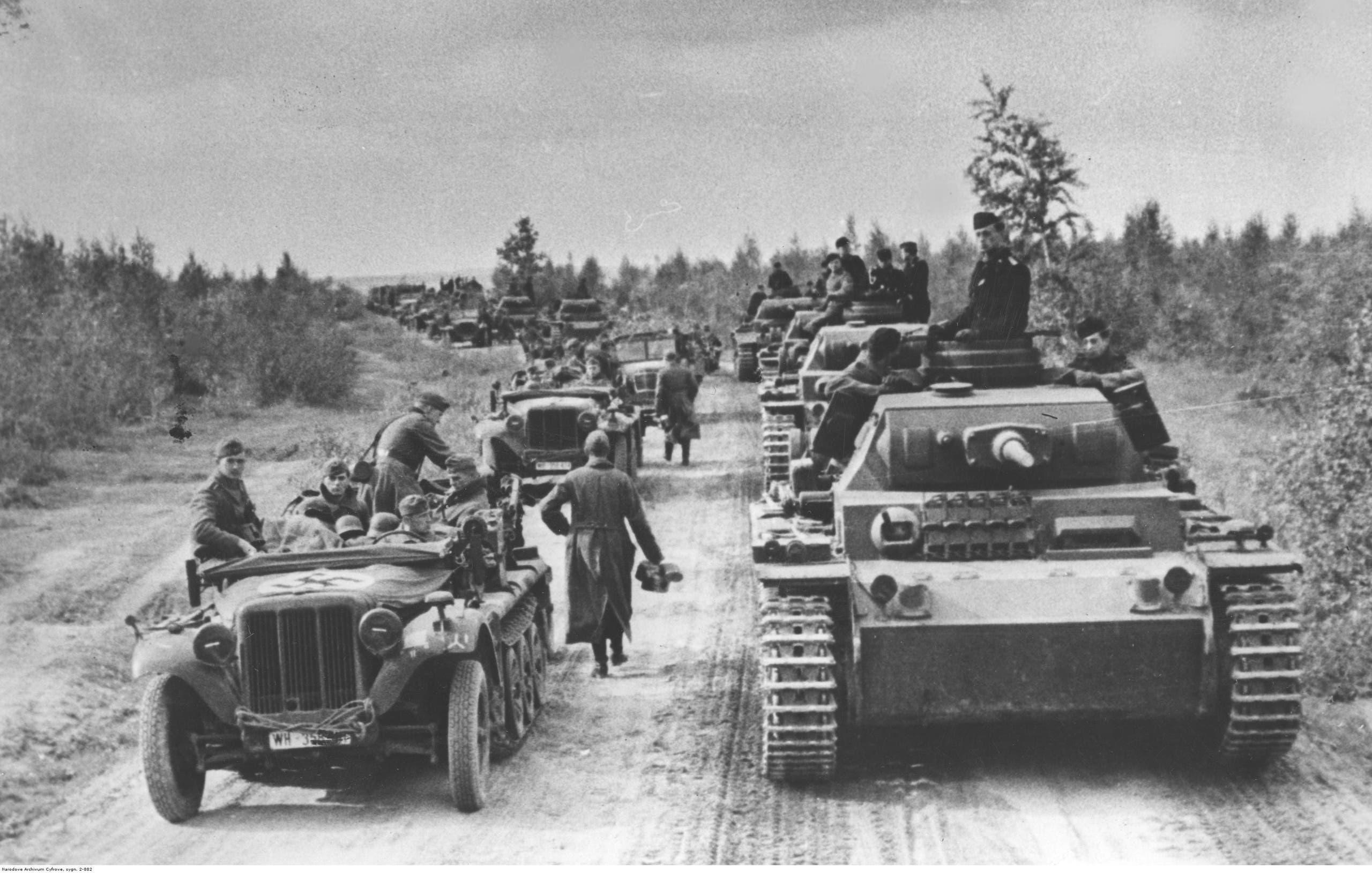 جانب من القوات الألمانية قرب موسكو عام 1941