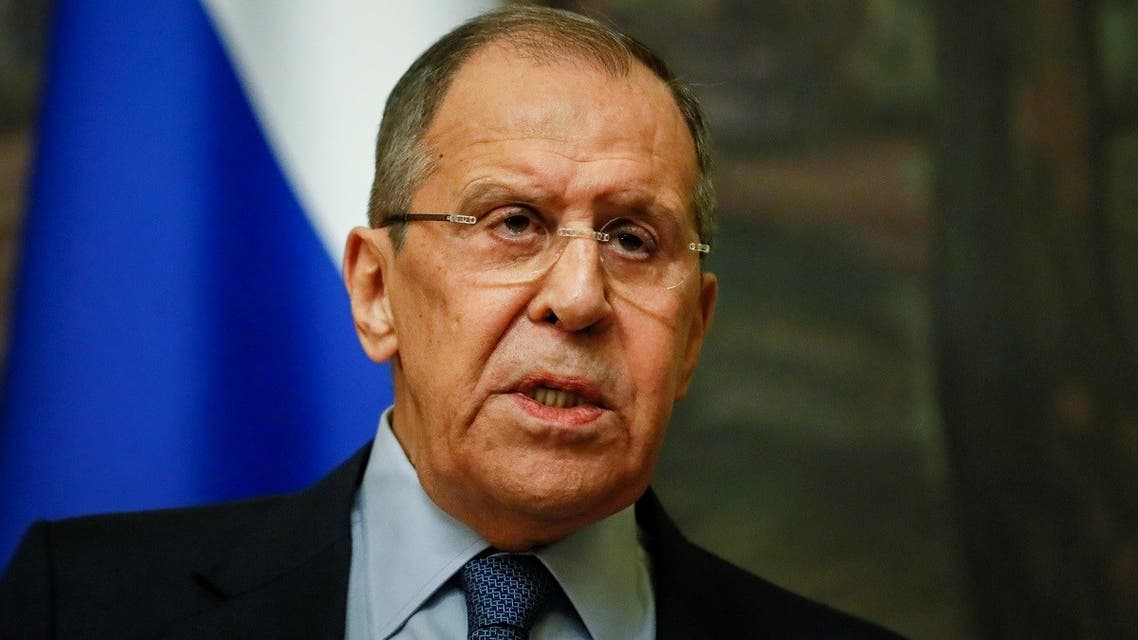 Russian FM Sergei Lavrov meets with Serbian FM Nikola Selakovic in Moscow, April 16, 2021. (Reuters)