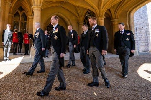 الأميران خلال جنازة الأمير فيليب - فرانس برس