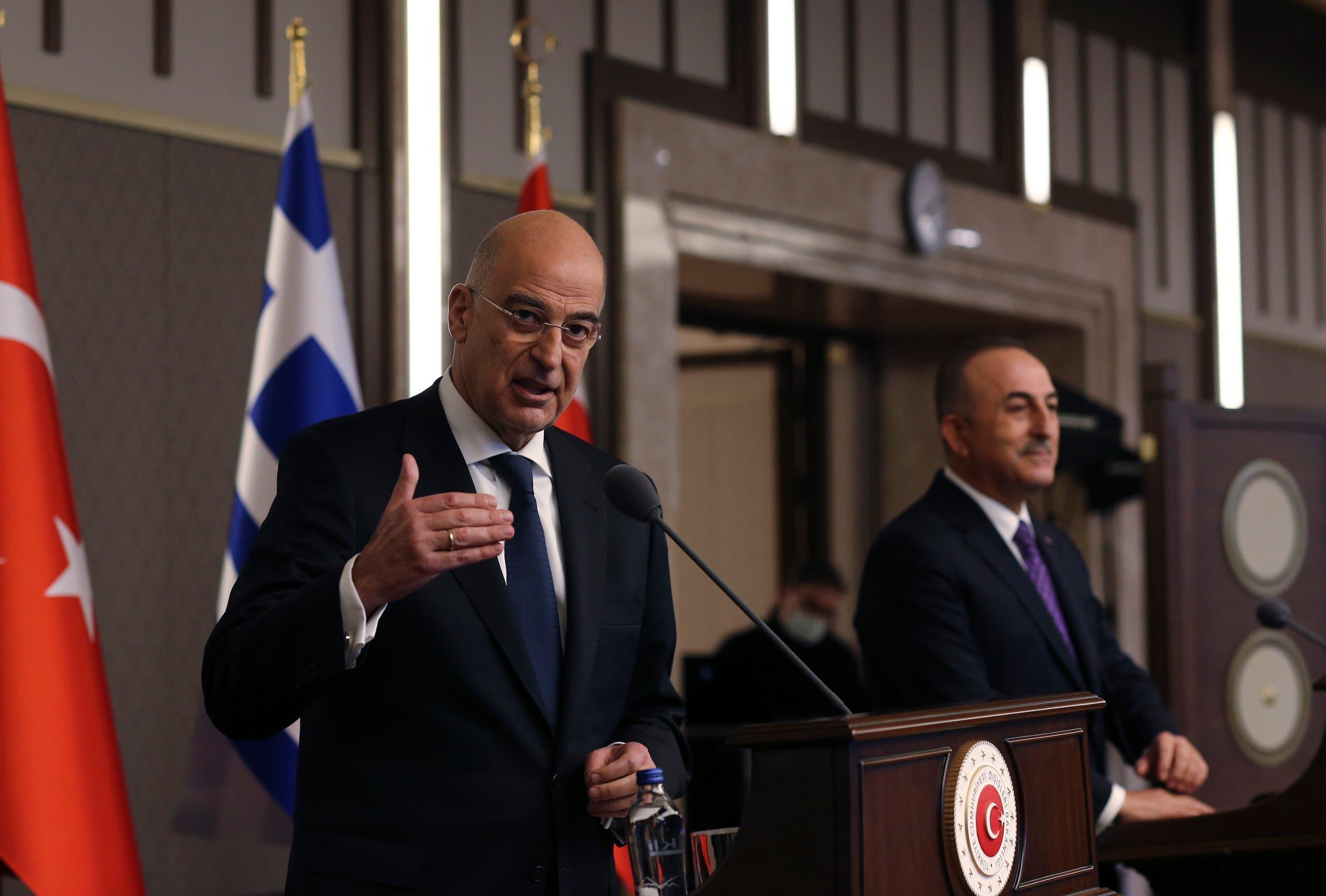وزيرا الخارجية اليوناني والتركي