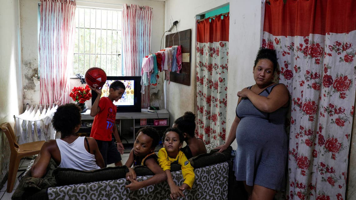 Estela Rosa, 19, who is 8 months pregnant, is pictured at her house where she lives with five other people in the Cidade de Deus slum, during the coronavirus disease (COVID-19) outbreak, in Rio de Janeiro, Brazil March 22, 2020. (Reuters)