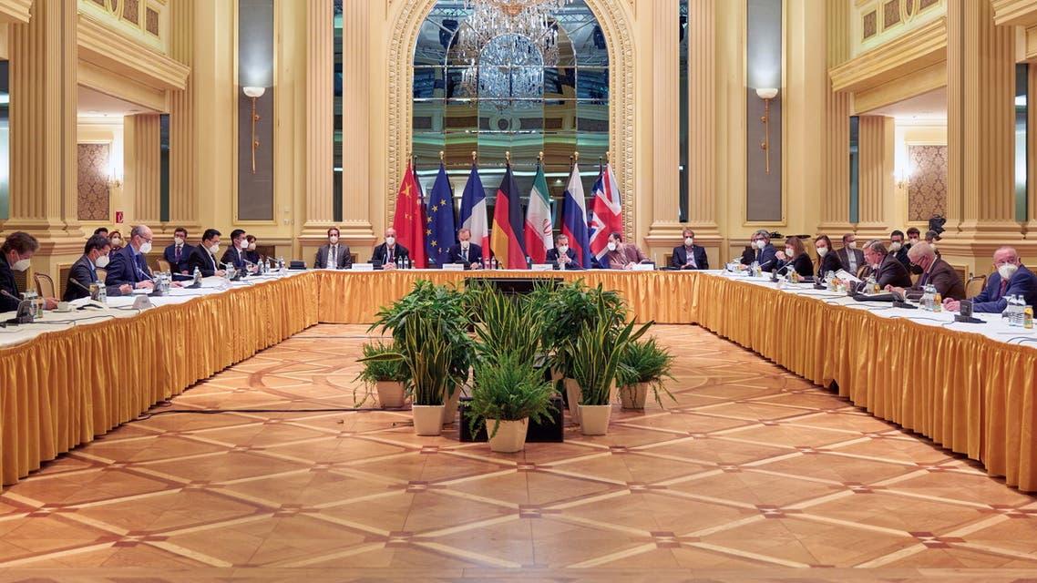 من اجتماع اللجنة المشتركة لخطة العمل المشتركة الشاملة في فيينا يوم 17 أبريل