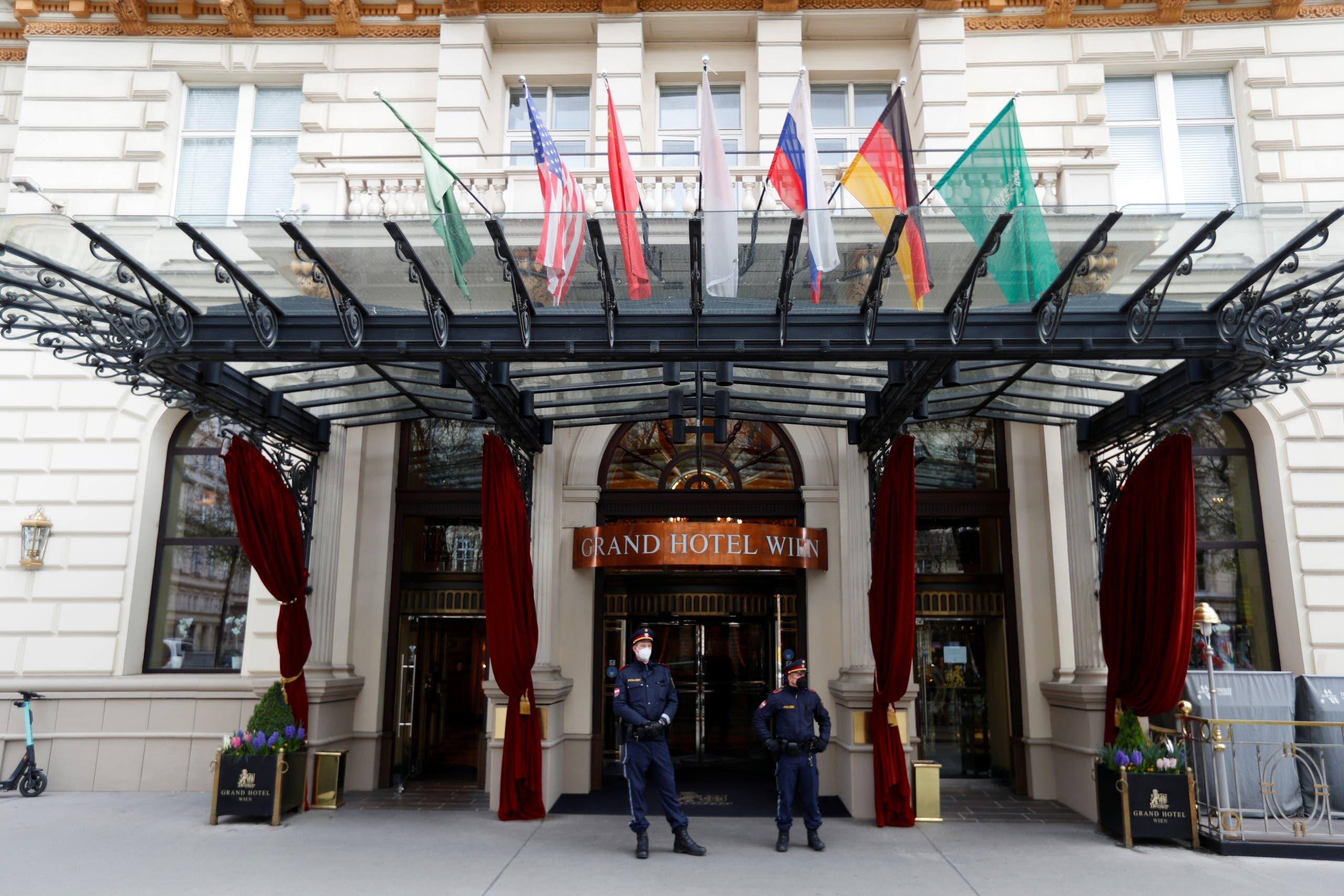 الفندق في فيينا حيث يعقد اجتماع اللجنة المشتركة