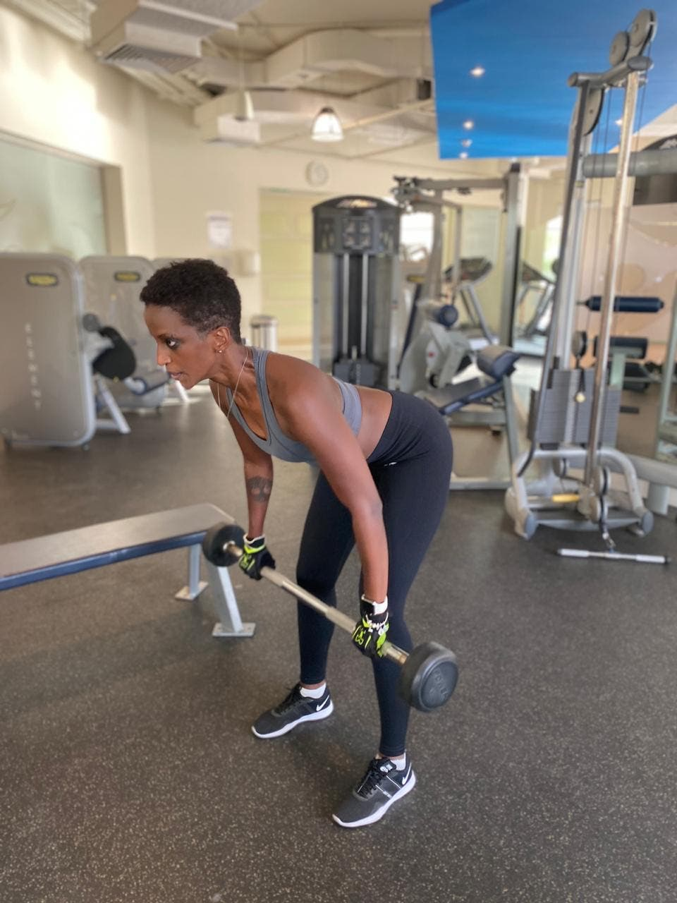 UAE Certified Personal Trainer and Fitness Coach Mulhima Ali Siddig exercises. (Supplied)
