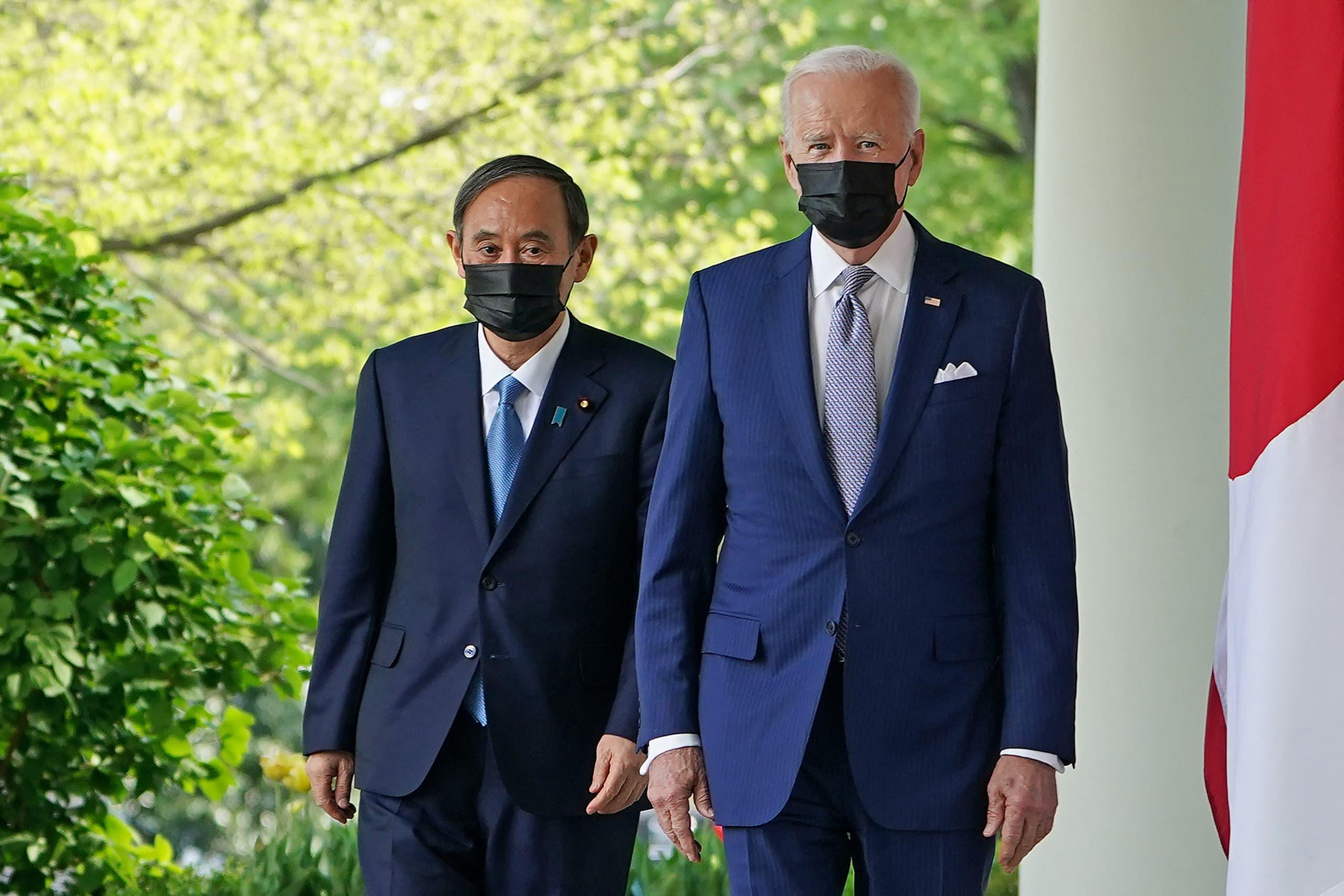 بايدن ورئيس وزراء اليابان
