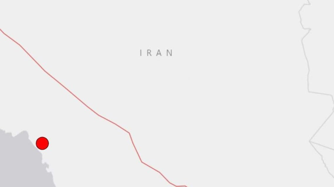 A magnitude 5.9 earthquake struck Iran's southern province of Bushehr on April 18, 2021. (Screengrab: USGS)