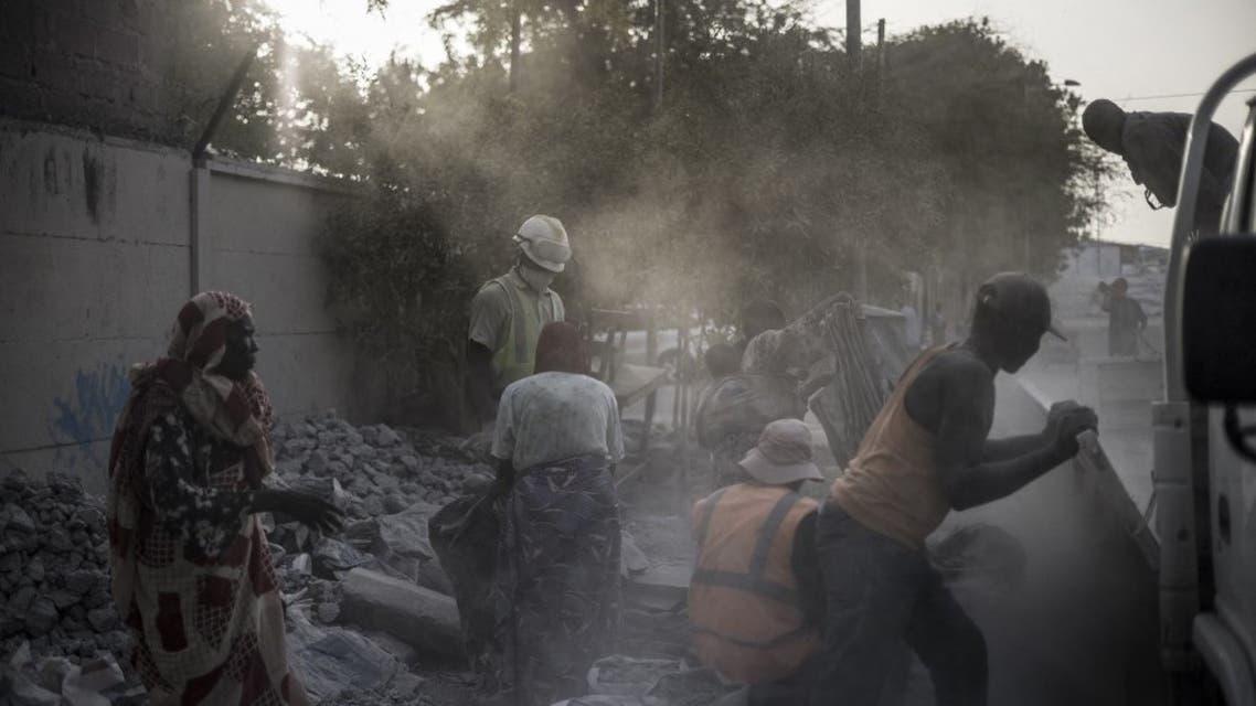 A site near the Cite International des Affaires in N'Djamena, on April 12, 2021. (AFP)