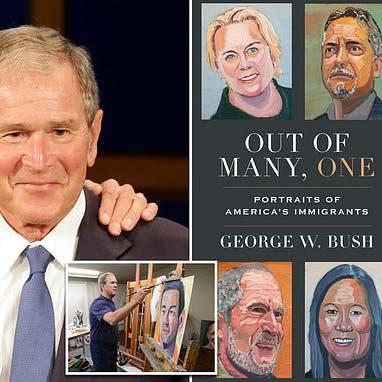 بوش الابن ينضم لجدل الهجرة.. كتاب للوحات رسمها يشعل الملف