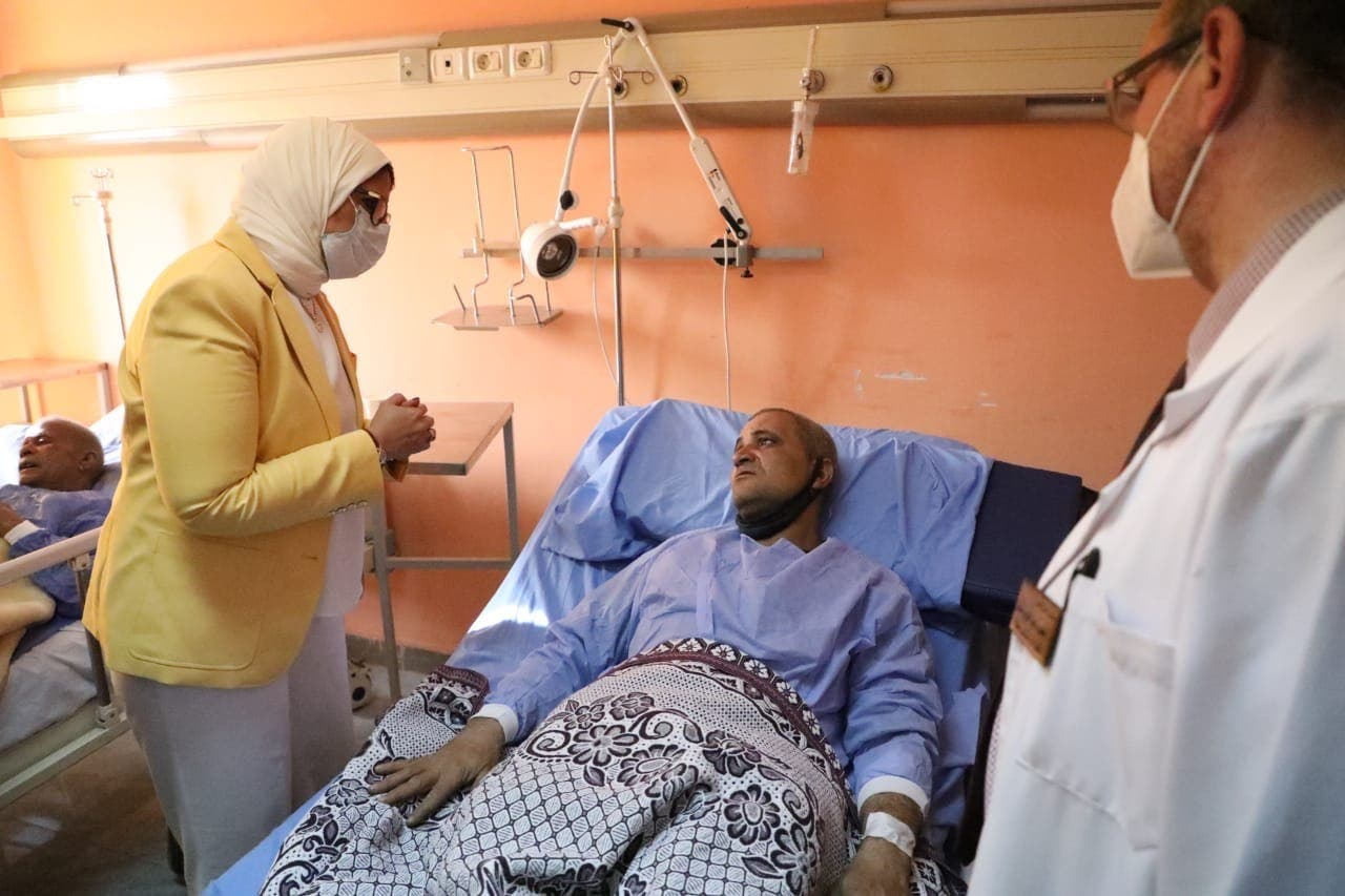 وزيرة الصحة تتفقد حاة المصابين
