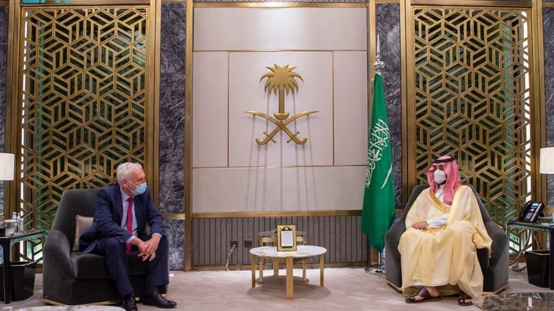 Saudi Crown Prince meets with UK Special Envoy for the Gulf region
