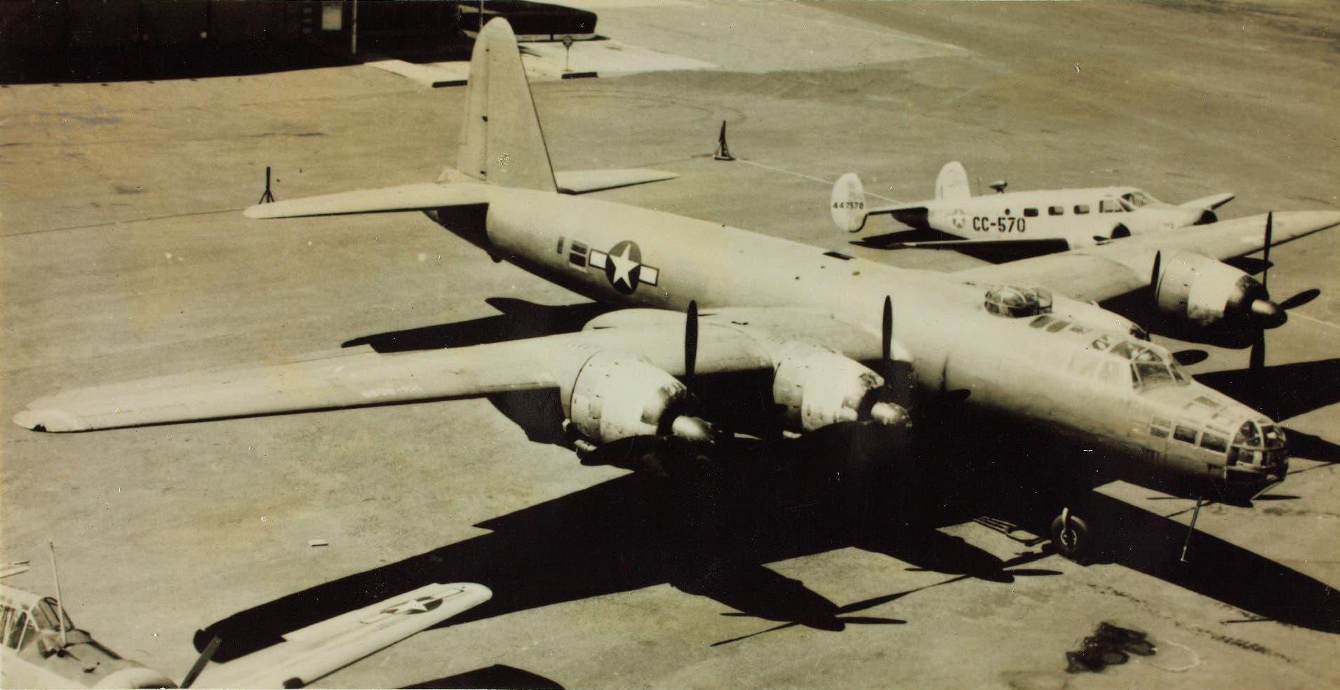 صورة لقاذفة قنابل ناكاجيما استولت عليها الولايات المتحدة الأميركية عقب الحرب العالمية