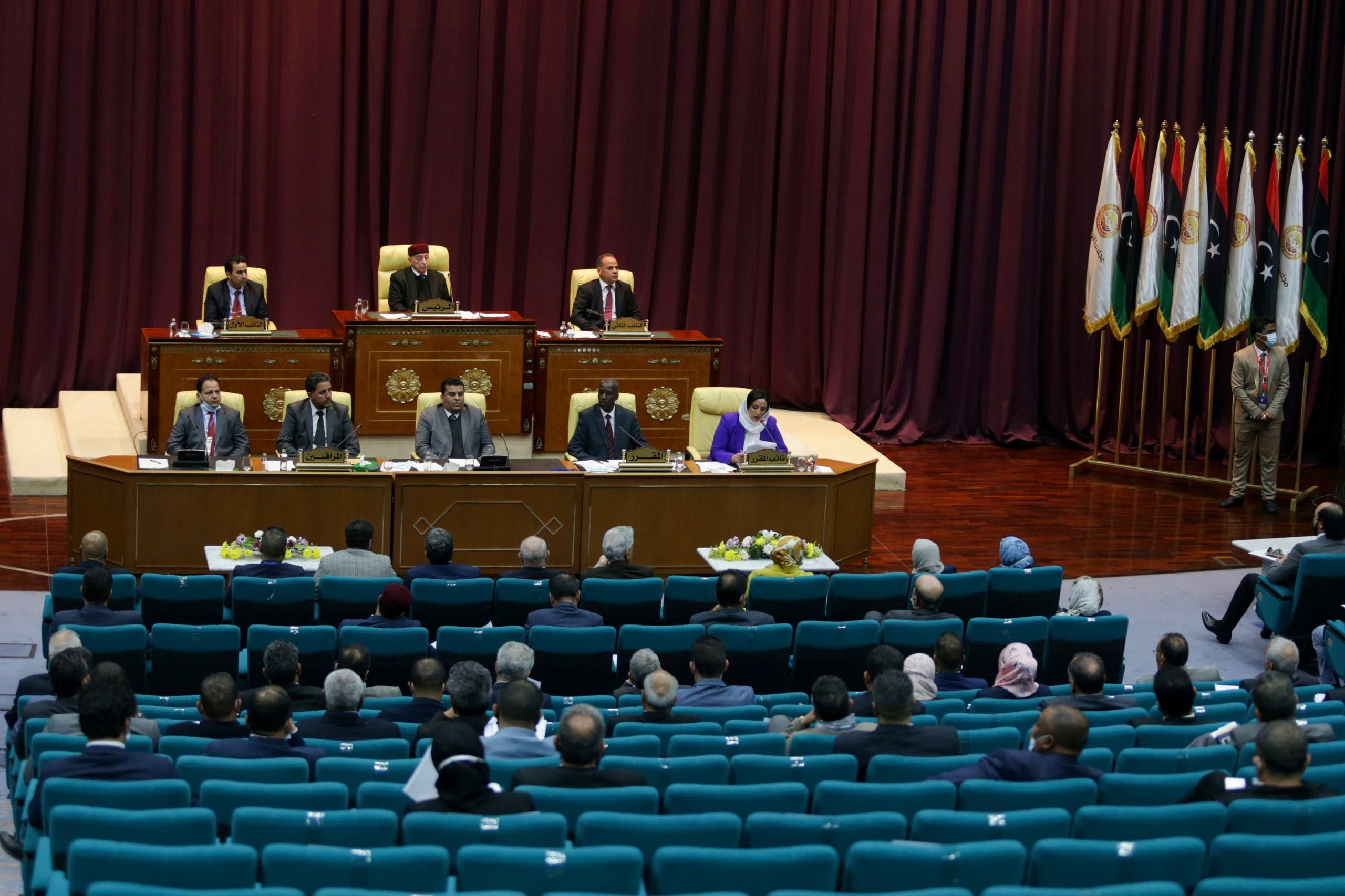 جلسة للبرلمان الليبي (أرشيفية)