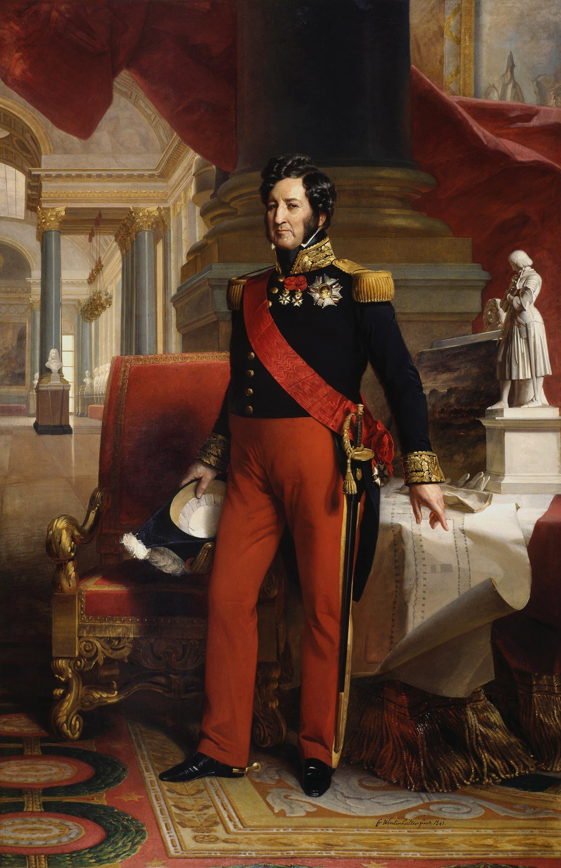 لوحة تجسد الملك لويس فيليب الأول
