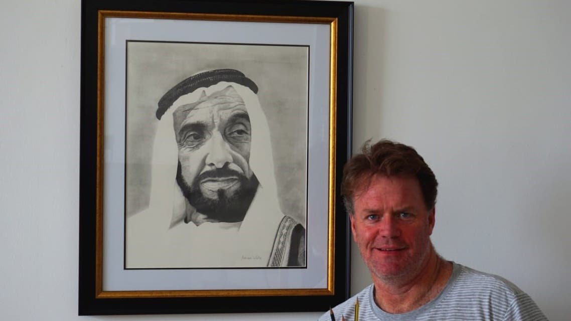 After losing his job in facilities management, Dubai resident Adrian Wells changed career path and pursuing his passions and is now a rising artist and tennis coach. (Supplied)
