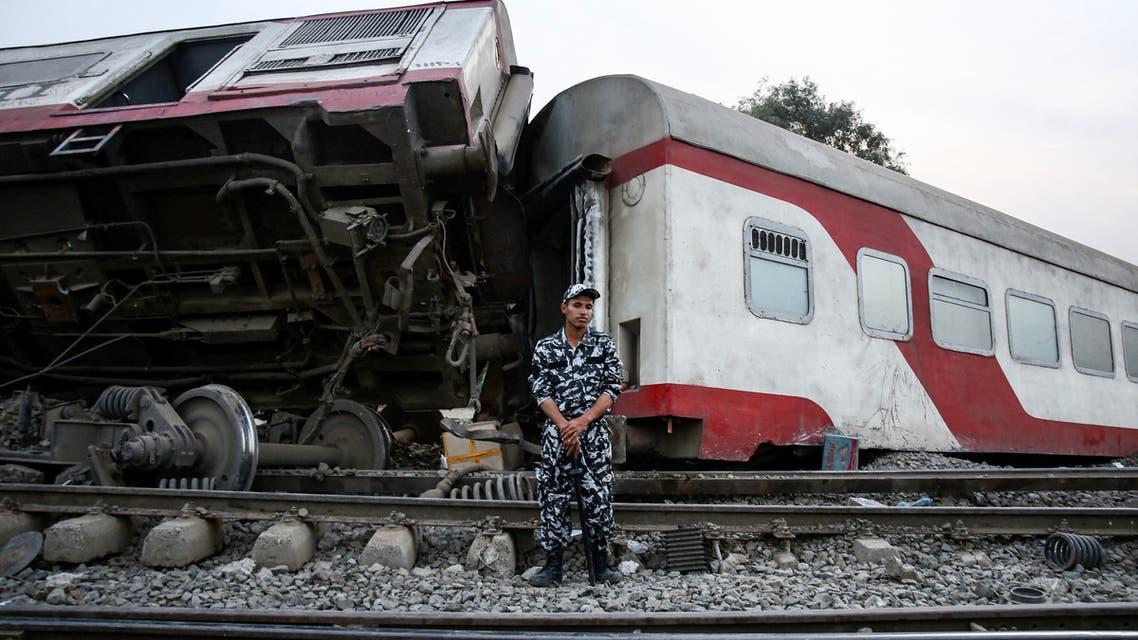 حادث قطار في مصر (أرشيفية- فرانس برس)