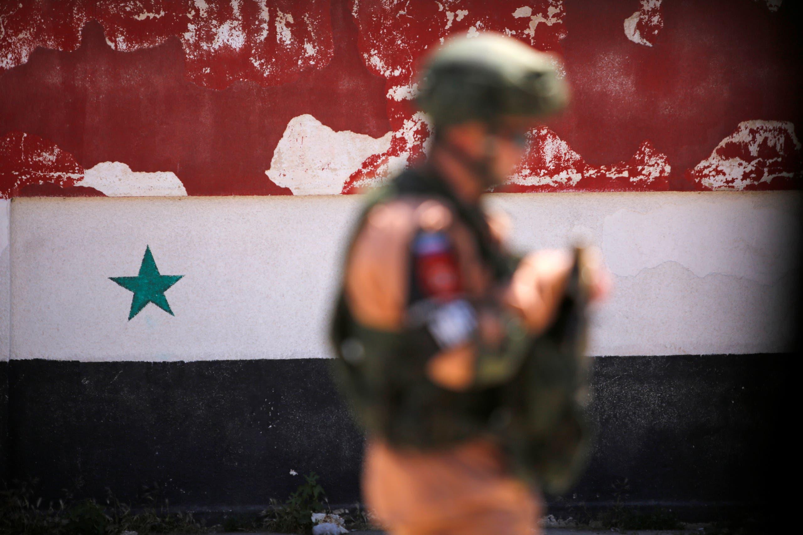 جندي روسي في حمص (أرشيفية)