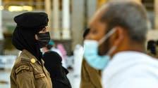 حرم مکی : حج و عمرہ سیکورٹی میں شامل خواتین عسکری اہل کار مصروف عمل