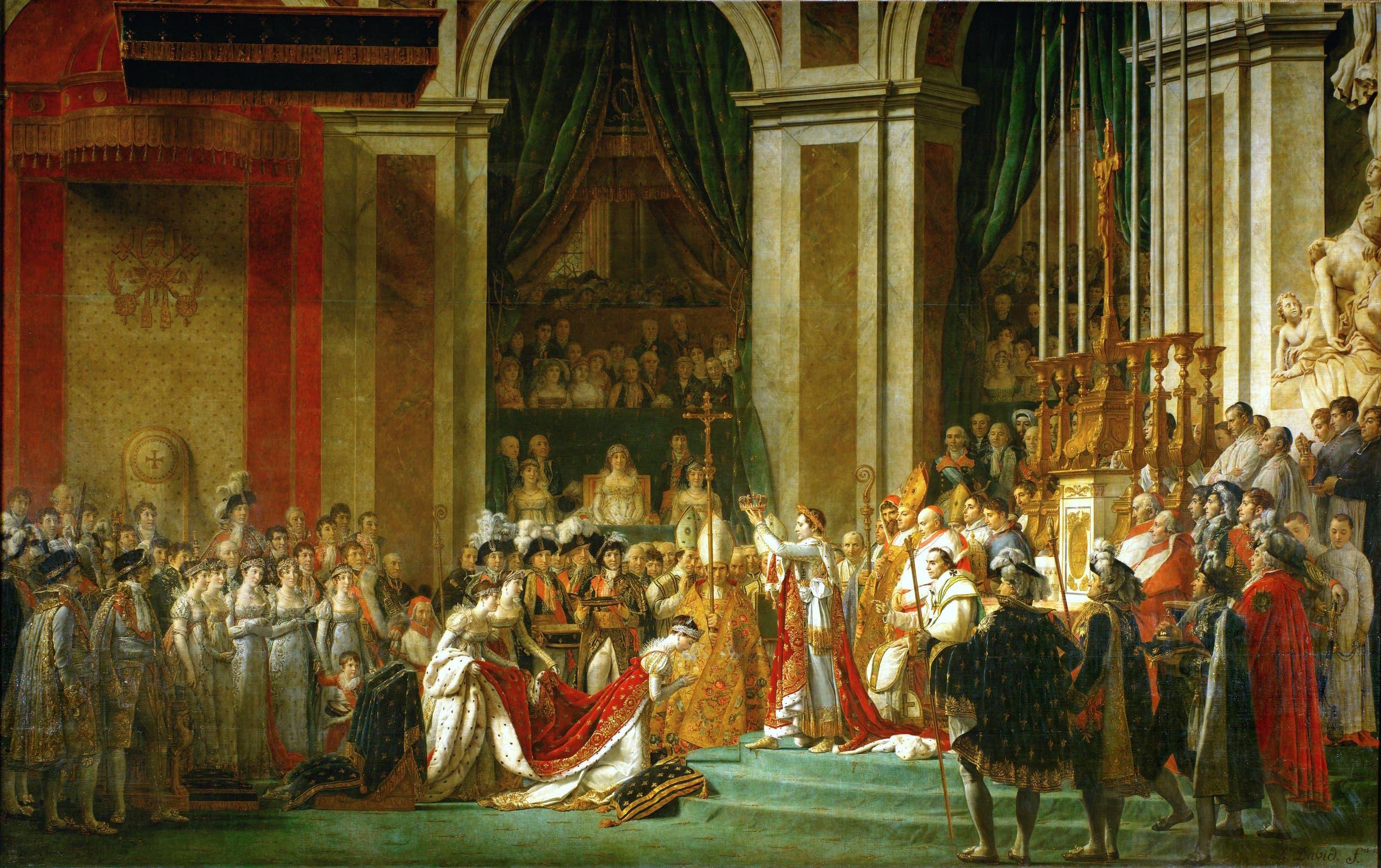 لوحة من حفل تنصيب نابليون بونابرت إمبراطورا