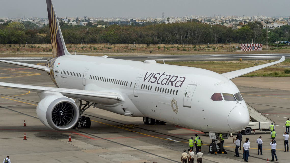 At least 49 passengers on a flight run by Indian operator Vistara on April 4 from New Delhi to Hong Kong have tested positive for coronavirus, authorities said. (File photo: AFP)