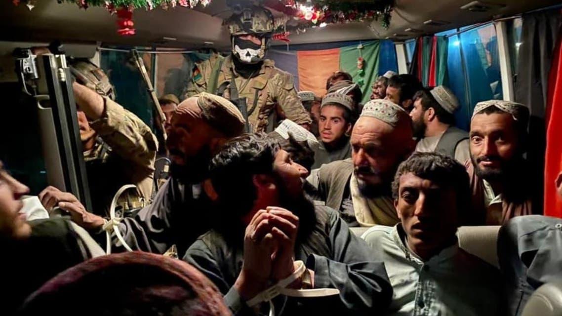 این افراد در ولایت هلمند در بند طالبان بودند