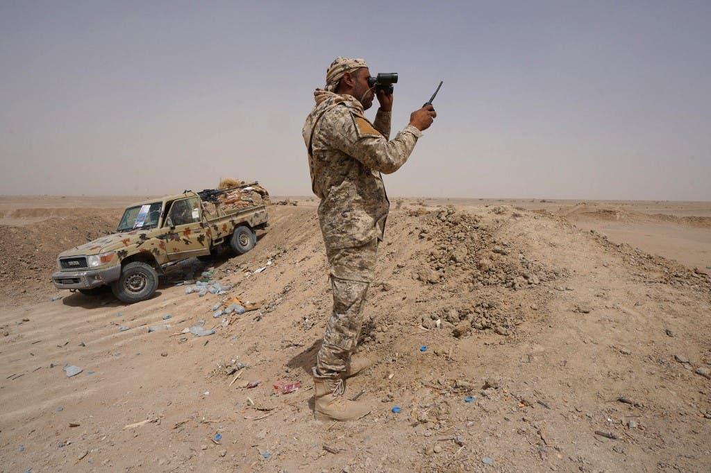 عنصر من الجيش اليمني في مأرب (أرشيفية)