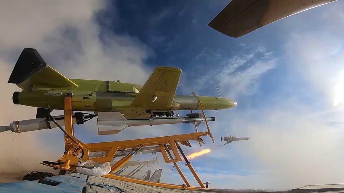 طائرات مسيرة طائرات بلا طيار درون إيرانية الصنع (رويترز)