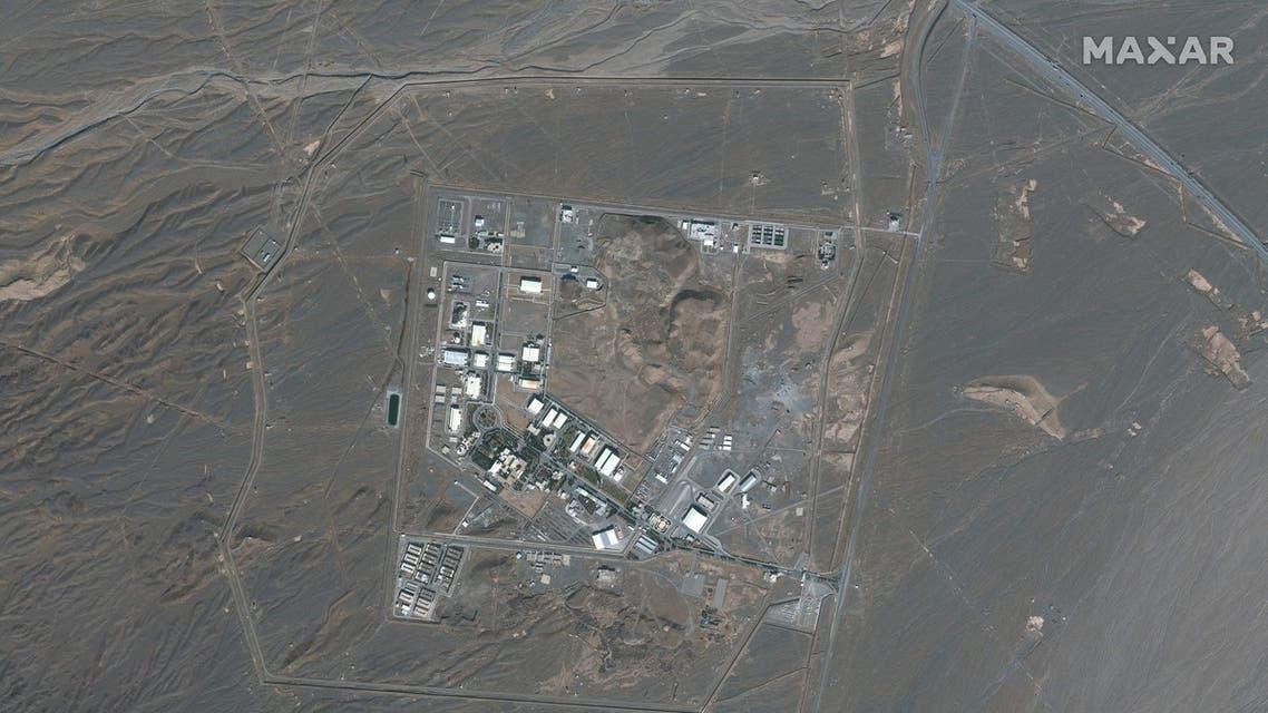 صورعبر الأقمار الصناعية لموقع منشأة نطنز النووية جنوب طهران (أرشيفية من فرانس برس)