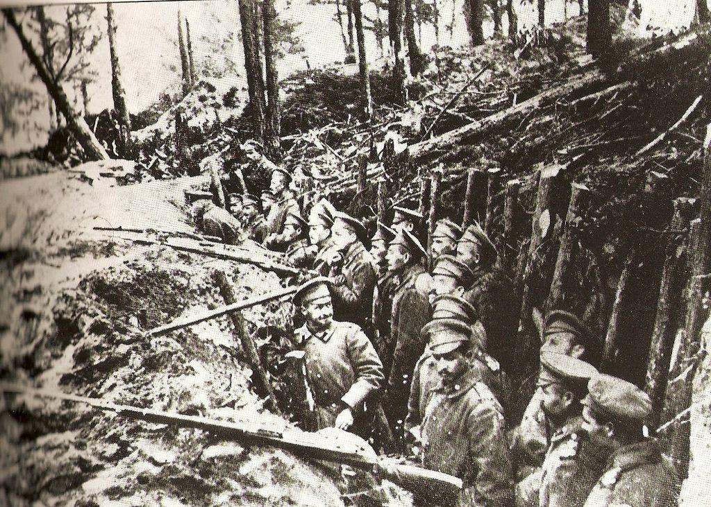 صورة لجنود عثمانيين خلال معركة ساريقاميش