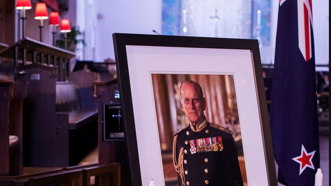 A portrait of Britain's Prince Philip, Duke of Edinburgh is seen during the State Memorial Service at the Wellington Cathedral Of St Paul on April 21, 2021. (File photo: AFP)