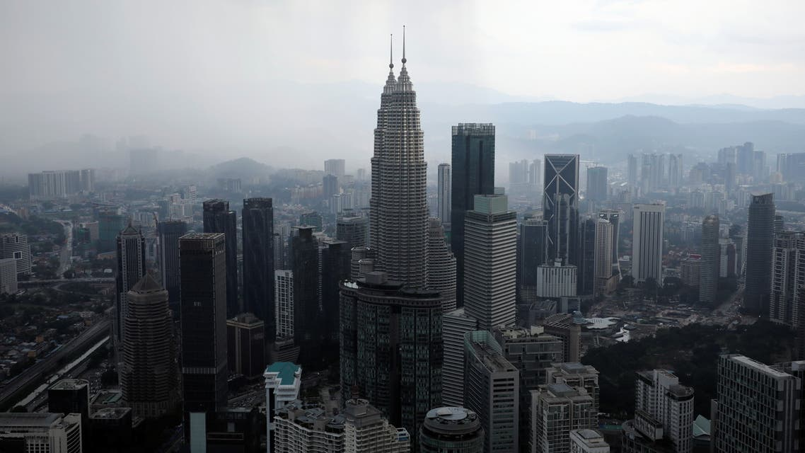 A view of the city skyline in Kuala Lumpur in Malaysia, April 12, 2021. (Reuters)