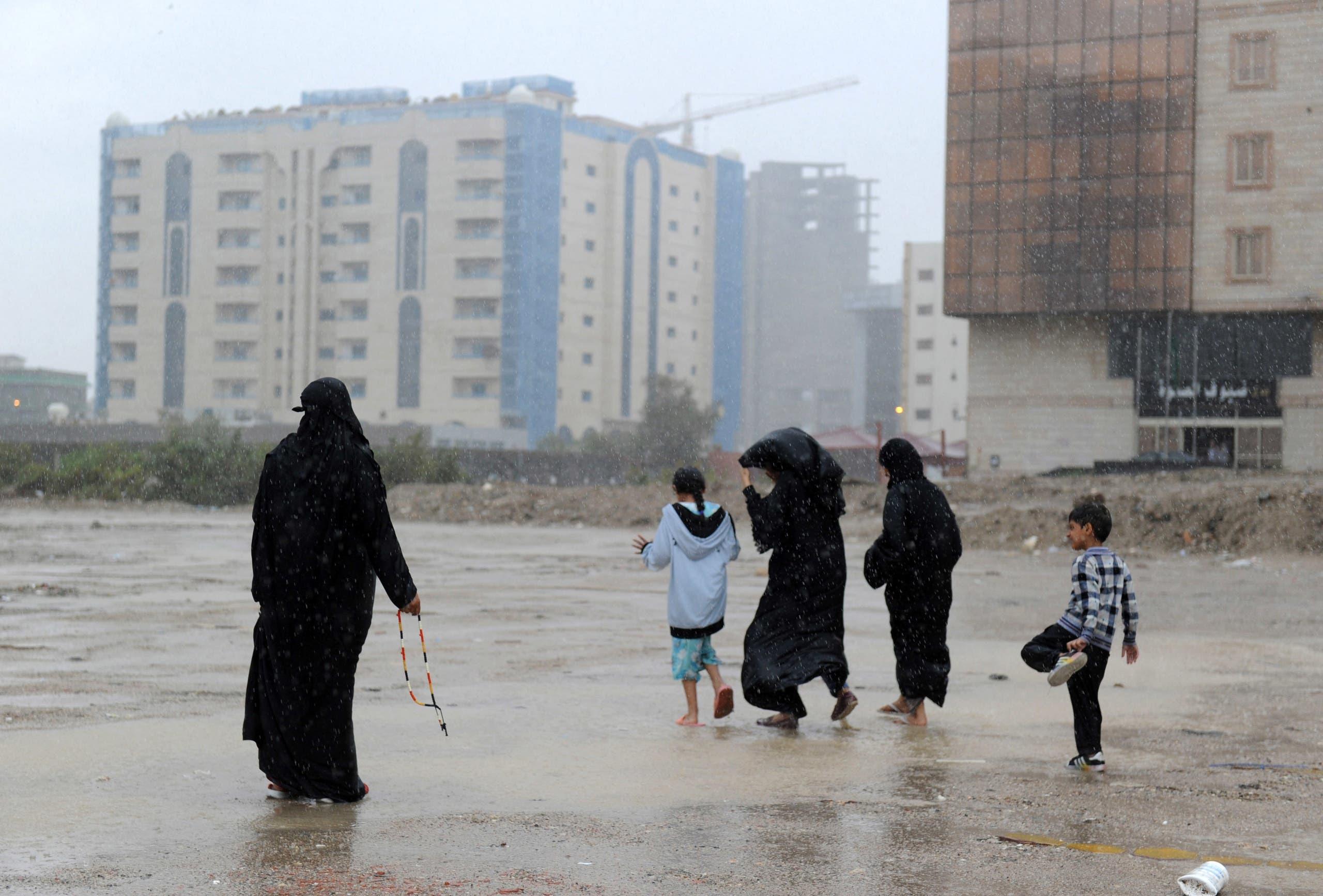 أمطار في جدة (أرشيفية)