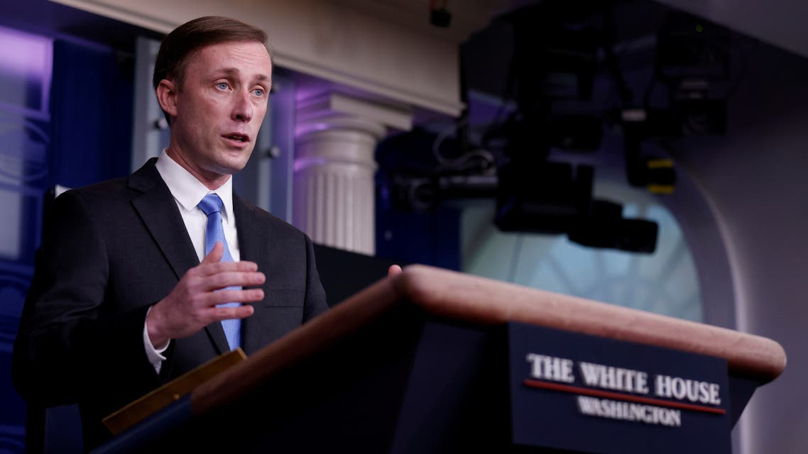 White House National Security Advisor Jake Sullivan delivers remarks during a press briefing inside the White House in Washington, U.S., February 4, 2021. (Reuters)