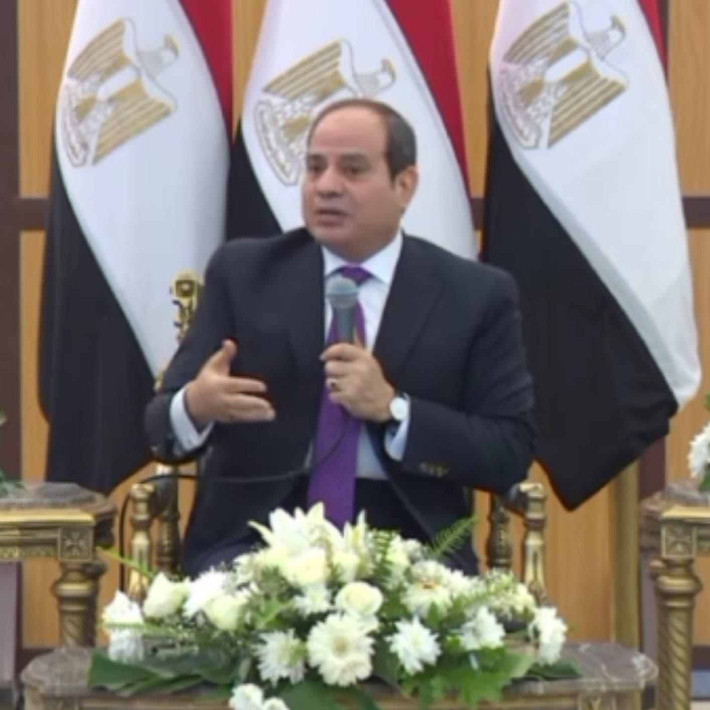 السيسي: الشركات والعمالة المصرية جاهزة للسفر والعمل بليبيا