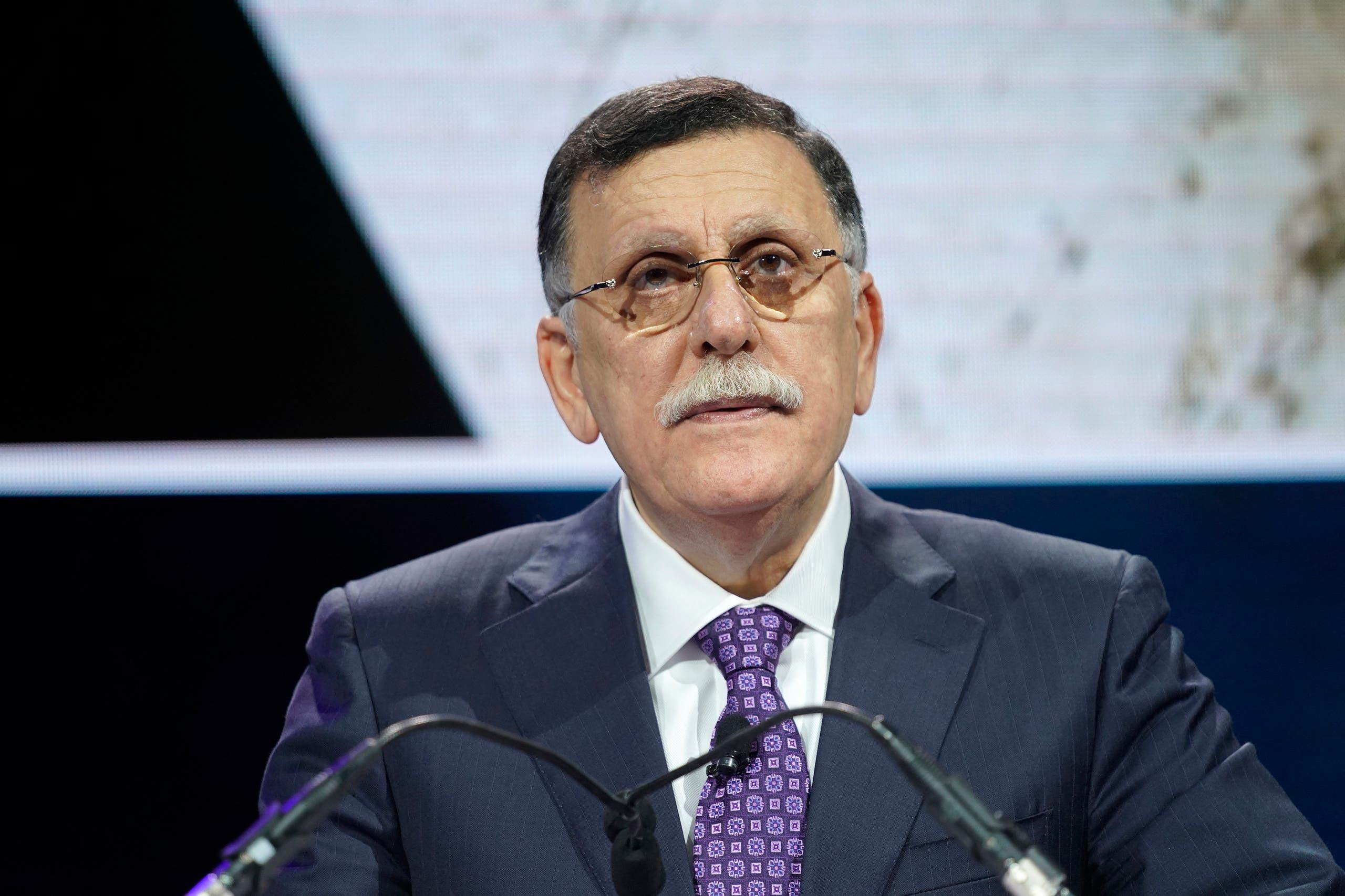 رئيس حكومة الوفاق الليبية السابقة فايز السراج (أرشيفية)