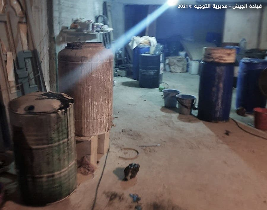 المعمل الذي داهمه الجيش اللبناني في بعلبك