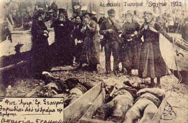 جانب من ضحايا كارثة سميرنا سنة 1922