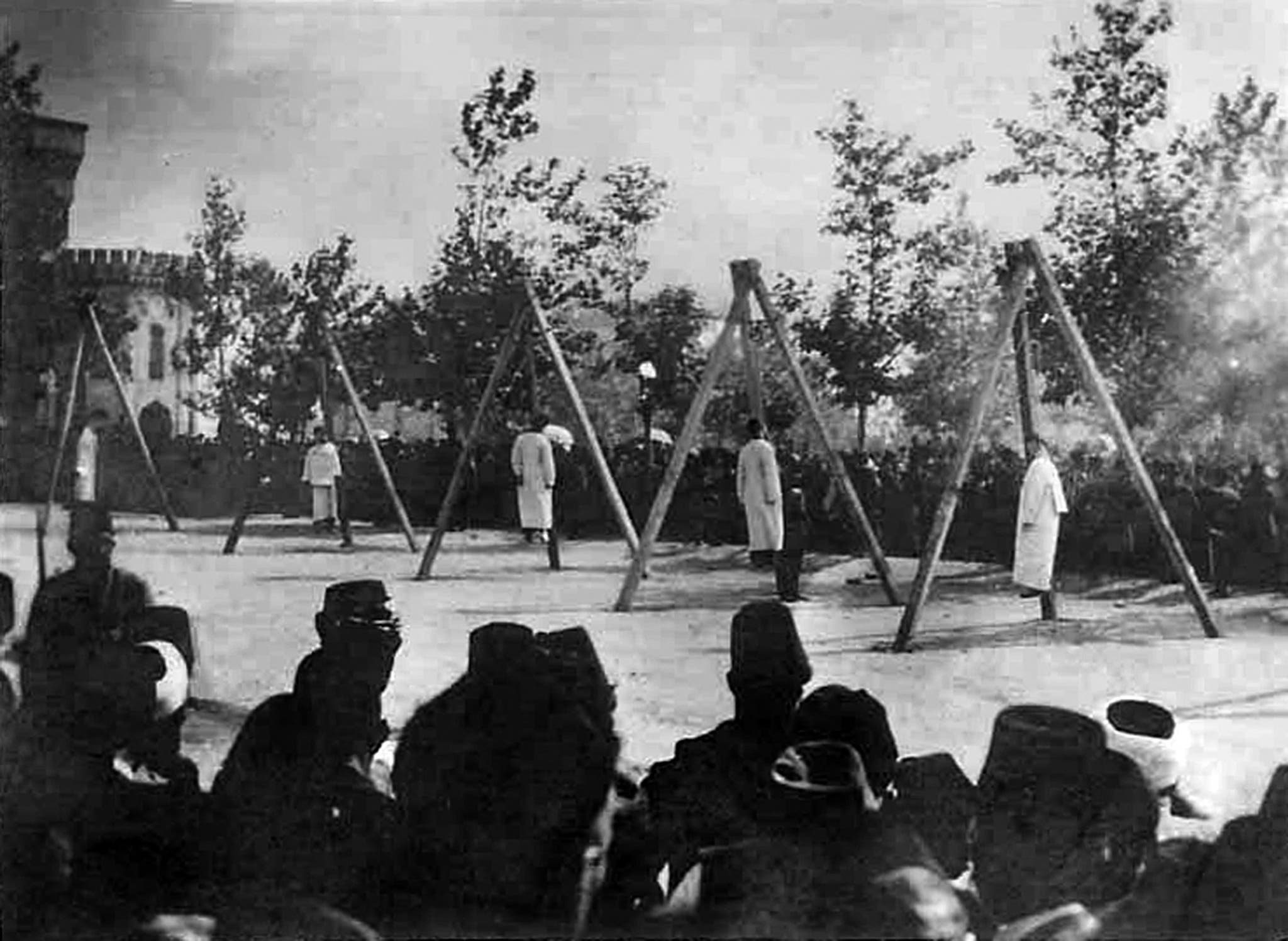 A picture released by the Armenian Genocide Museum-Institute purportedly shows Armenians hung by Ottoman forces in Constantinople in June 1915. Armenians say up to 1.5 million of their forebears were killed in a 1915-16 genocide by Turkey's former Ottoman Empire. Turkey says 500,000 died and ascribes the toll to fighting and starvation during World War I. (File photo: AFP)