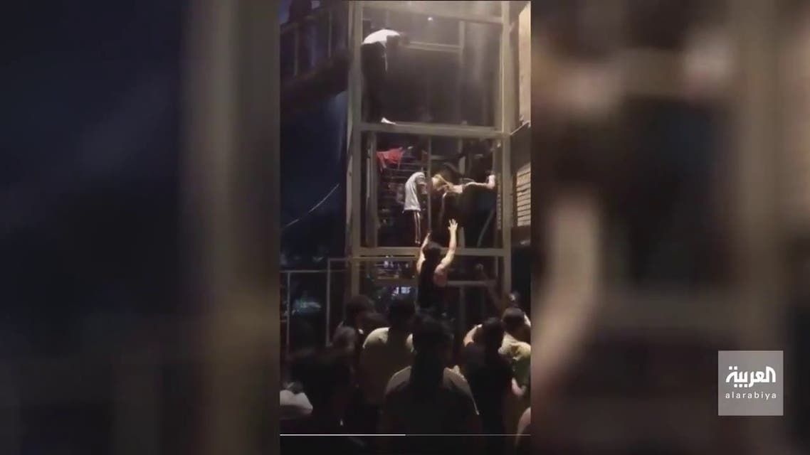 Videos being shared on Twitter showed dozens of people frantically evacuating the hospital following the incident.