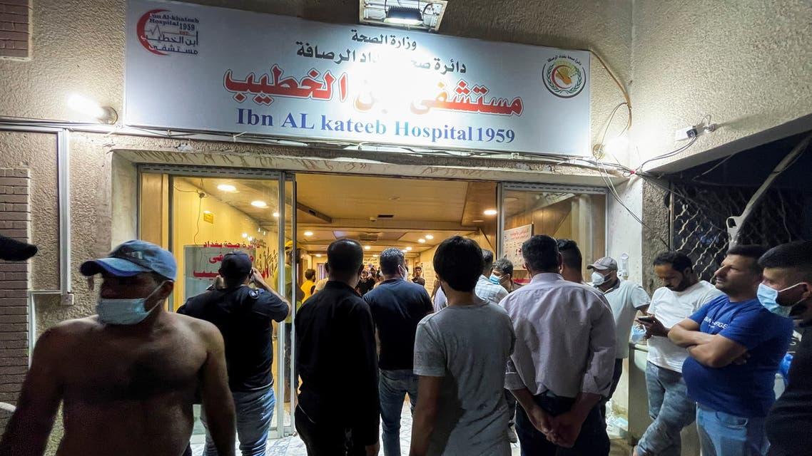 فاجعة مستشفى ابن الخطيب تخيم على بغداد (أرشيفية- رويترز