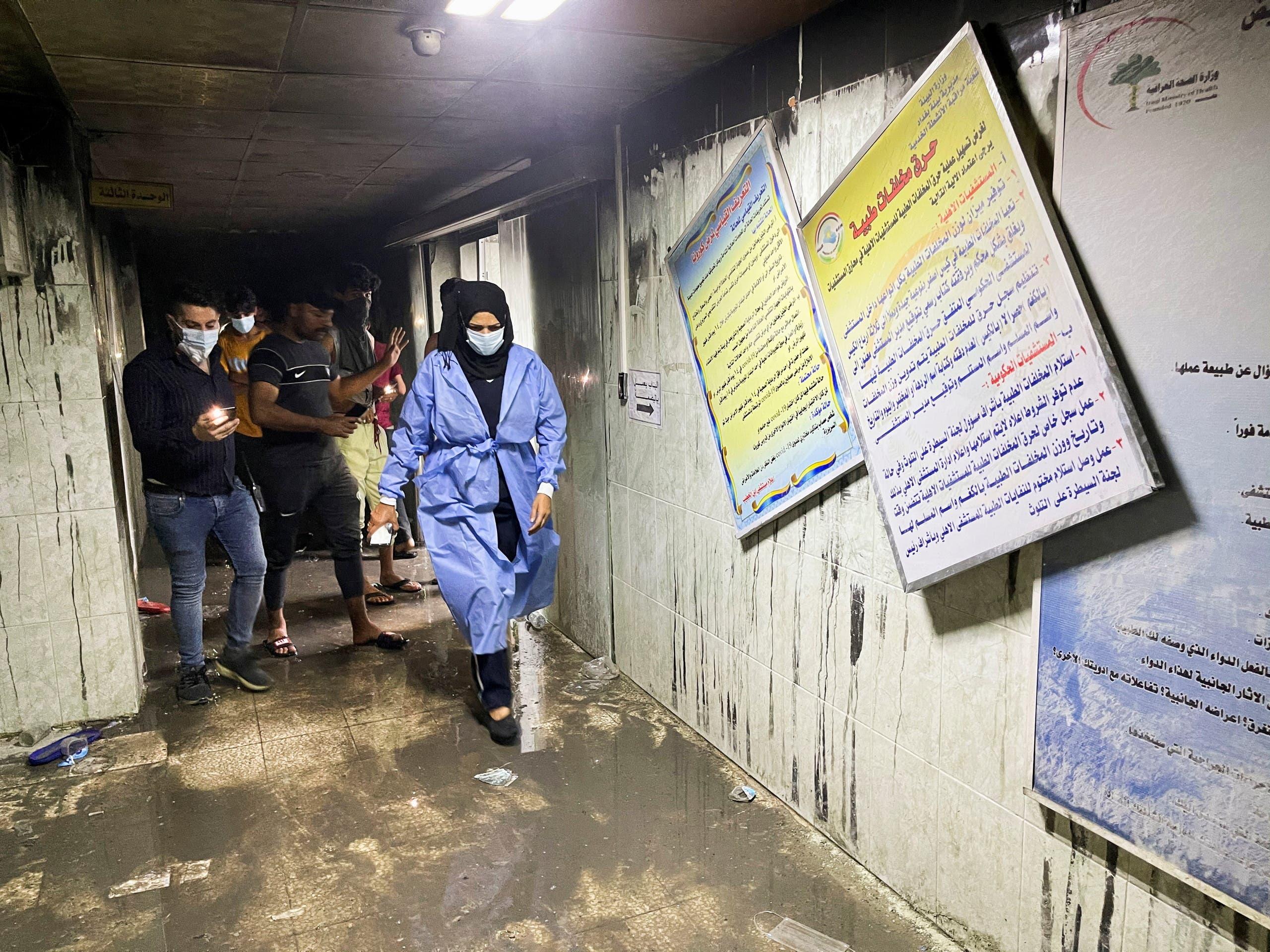 آتشسوزی در بخش ویژه کرونای بغداد